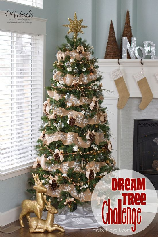 Rustic Christmas Tree by @Ashley Walters Walters Walters Walters Walters Walters Hackshaw #JustAddMichaels