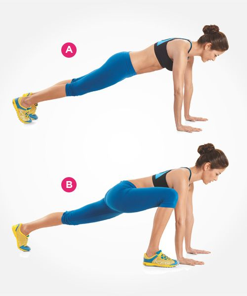 These planking frog tucks challenge your core, big time. Click through for directions PLUS 9 more ab exercises that beat crunches: www.womenshealthm...