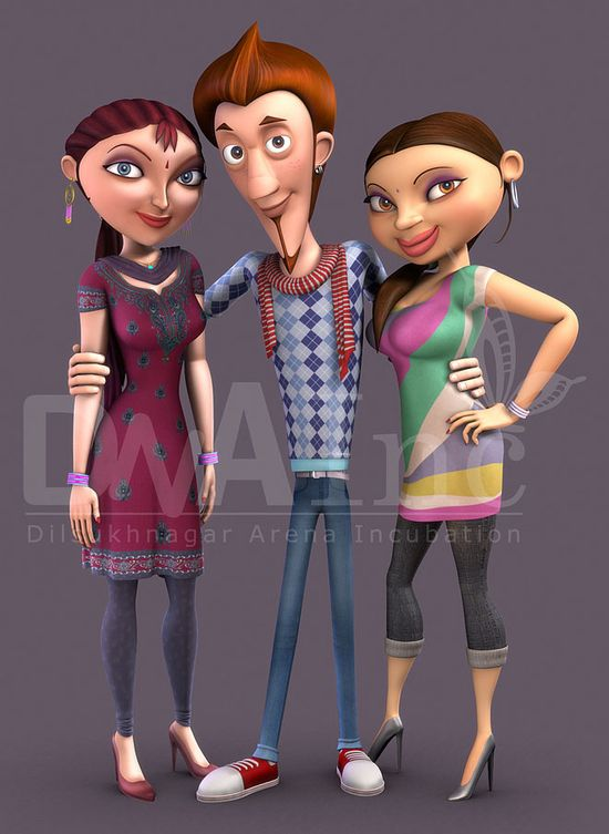 render 3d model character design animated animation