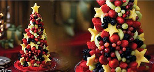 """""""Play With Your Food!""""-- Fruit Christmas Tree"""