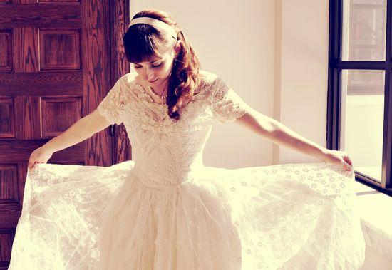 Breathtaking 1950s wedding dress...