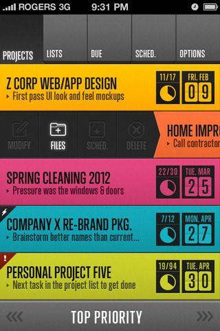 HQ 2.0 (in-progress design update for HQ task management iPhone app)