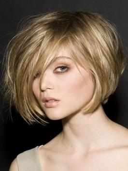 Short hair, really cute!