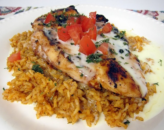 Mexican chicken and rice.