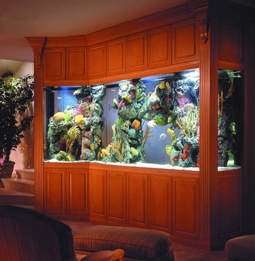 aquarium in home interior decorating 11