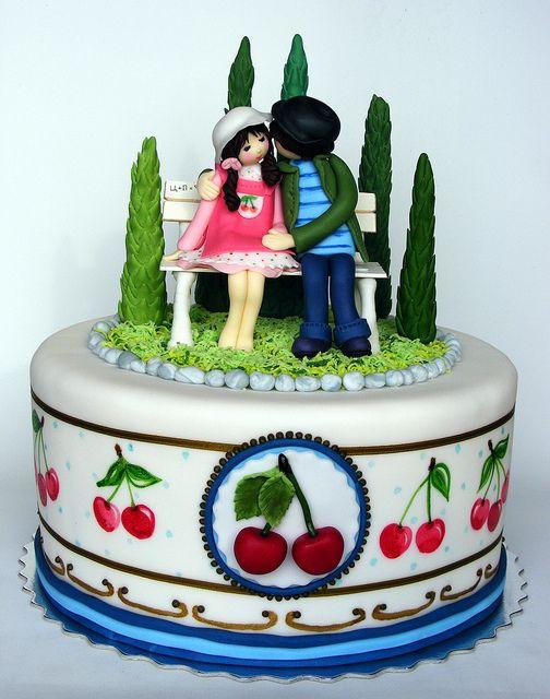Cherry lovers cake by bubolinkata, via Flickr