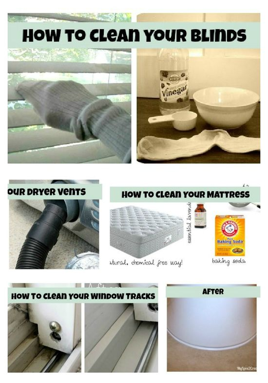 Great cleaning tips.