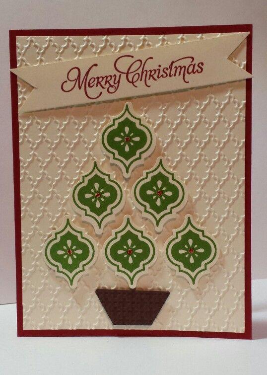 Mosaic Christmas Card...Stampin Up