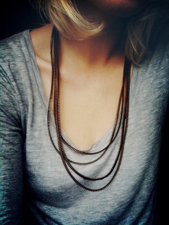 zipper necklaces