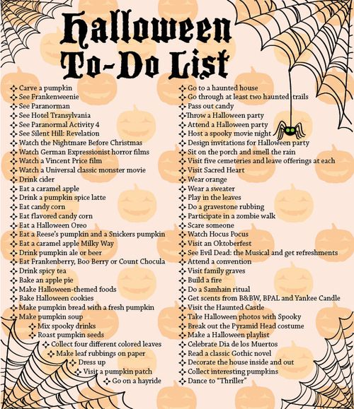 Halloween To-Do List