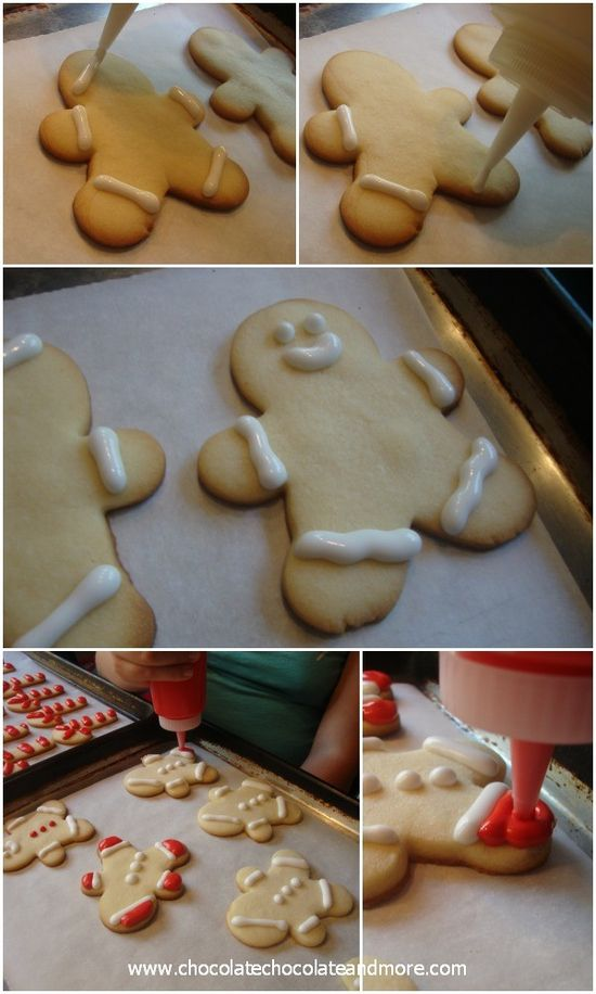 Decorating Cookies with Royal Icing-Cookie Men-it's easier than you think!