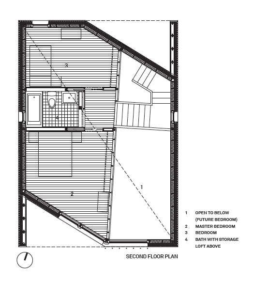 R House / Architecture Research Office (second floor plan)