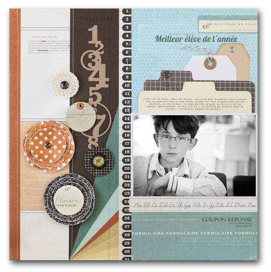 This is a really lovely layout. Stephanie Dagan. Scrapbook page; #scrapbooking