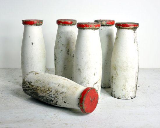 Vintage Carnival Game Milk Bottles