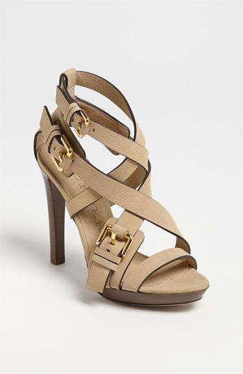 Burberry Buckle Detail Sandal available at #Nordstrom