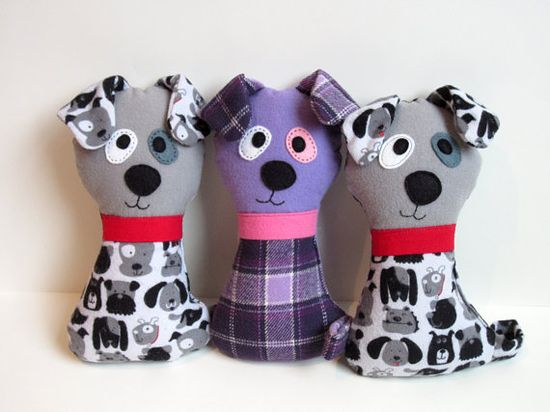 Dog Pattern - Scruffy the Stuffed Doggie PDF Sewing Pattern - Soft Dog Toy for Babies Toddlers Child-Safe or Dog Toy Instant Download