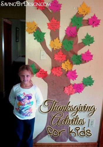 Thanksgiving Activities:  The Thankful Tree and Tom the Thankful Turkey