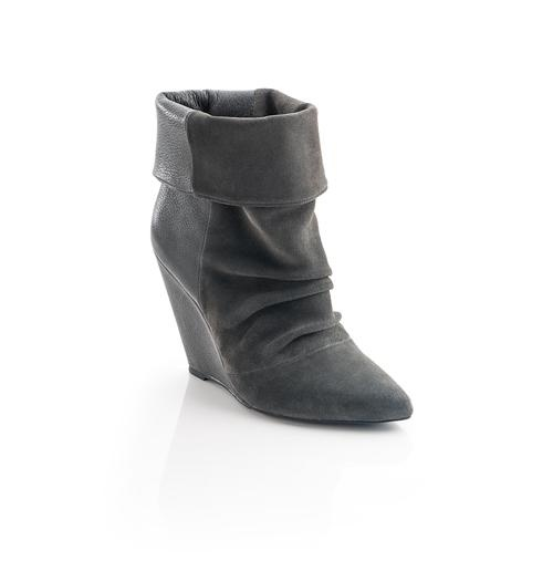 relaxed low-rise booties for fall