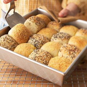 Checkerboard Rolls Recipe ~ This combination of cornmeal and cheese makes delicious rolls as does the combination of poppy seeds, sesame seeds, and lemon-pepper seasoning. When both flavor combinations are side by side, these rolls will be the hit of your Holiday or party