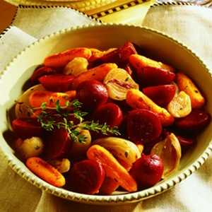 Thyme-Scented Roasted Vegetables & Beets