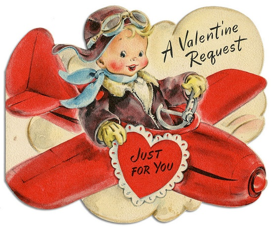 Flying by with oodles of vintage Valentine's Day cuteness!