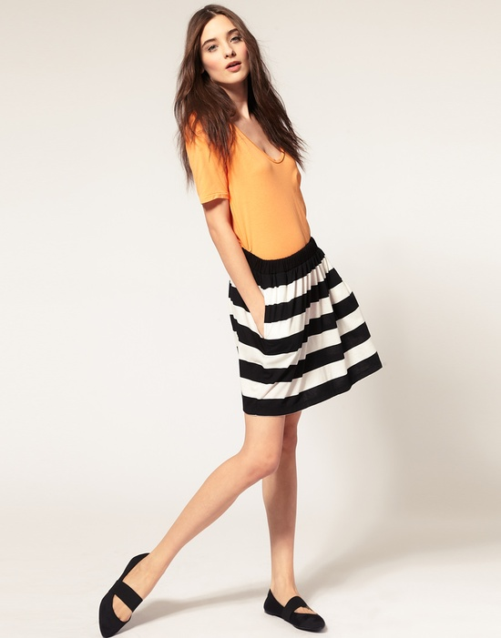 The perfect striped skirt.