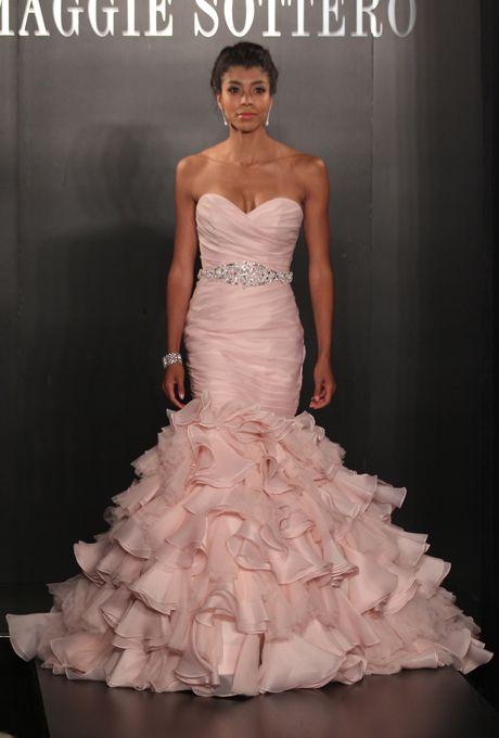 Pink Maggie Sottero Wedding Dress