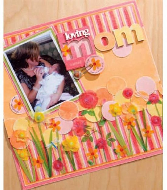#Mom will adore this #DIY scrapbook page! #MothersDay