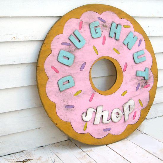 Doughnut Shop Sign Round Retro Sign