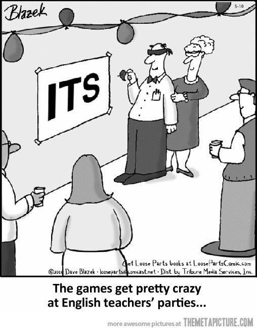 English teacher's parties…