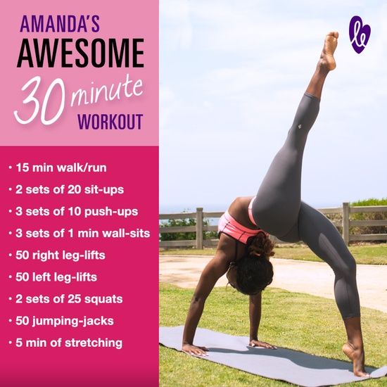 I won't necessarily try doing this in 30 mins. I will instead try to do the whole set, doing as much as my body can handle, and then work up to it.