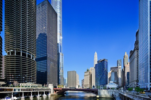 Chicago River from North Dearborn Street