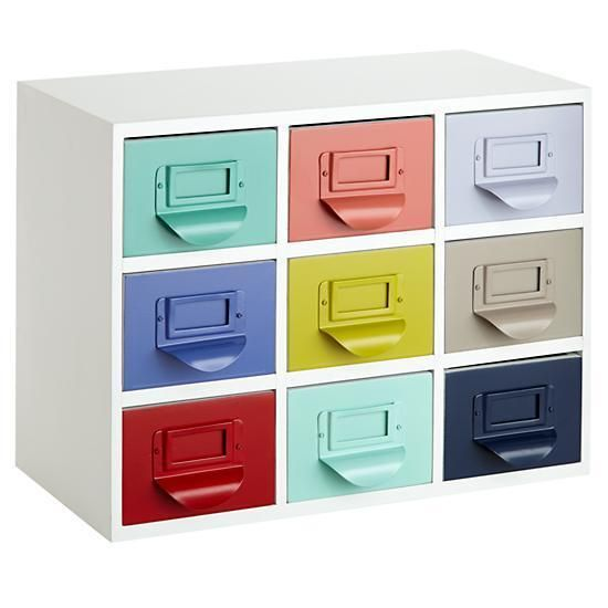 Color Reference Drawers by The Land of Nod. Every happy office should be full of color!