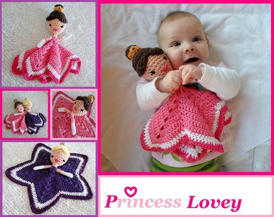 Princess Lovey Crochet Amigurumi Pattern PDF. $3.99, via Etsy.