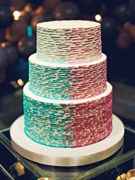 two toned ombre cake