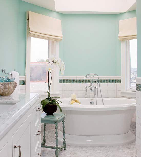 Shades of blue bathroom