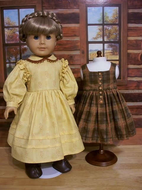 1850s Fall Dress and Pinafore by Keepersdollyduds, via Flickr