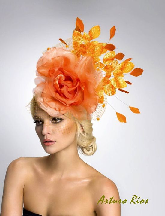 Couture fascinatorCocktail Hat Headpiece by ArturoRios on Etsy, $198.00