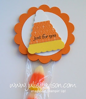 Julie's Stamping Spot -- Stampin' Up! Project Ideas Posted Daily: Pennant Punch Candy Corn