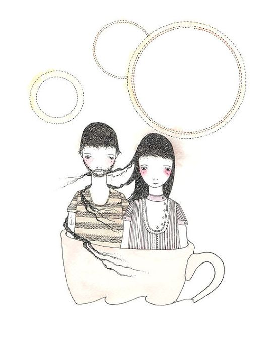 At Sea in a Teacup 2 - Print by Catherine Campbell
