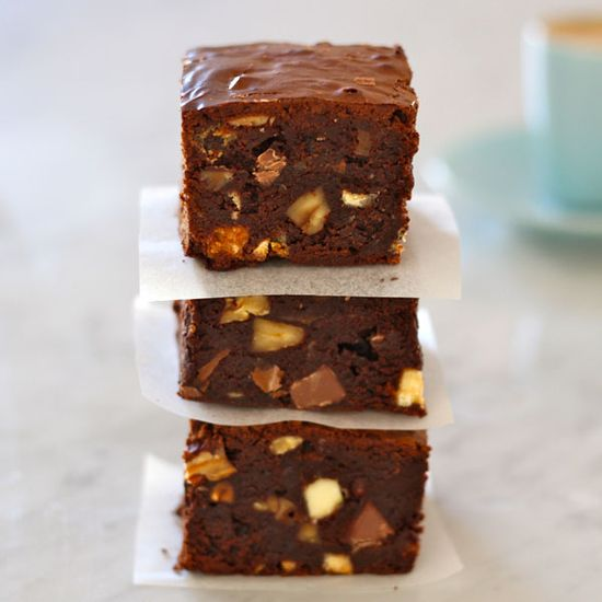 Triple Choc and Pecan Brownies