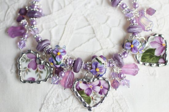 Broken China Jewelry China Heart Bracelet