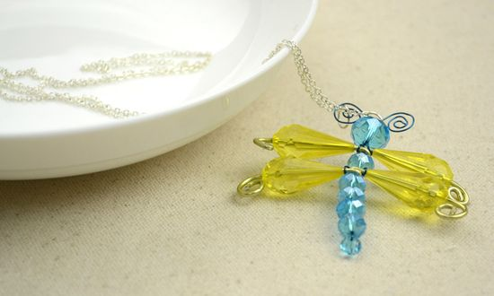 Unique handmade jewelry designs - handcrafted pendants in dragonfly pattern – Pandahall