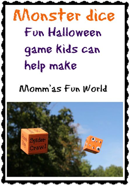 Momma's Fun World: Monster dice learning and fun party game