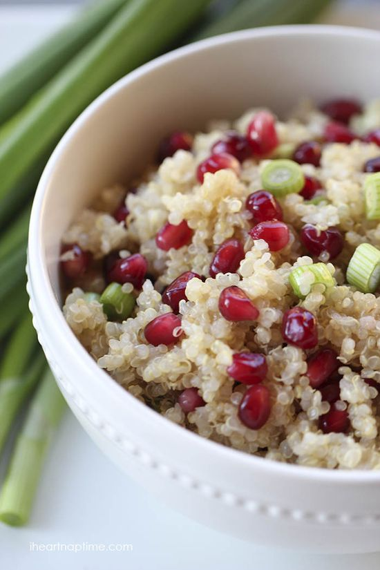 Pomegranate salad with quinoa...healthy and delicious!