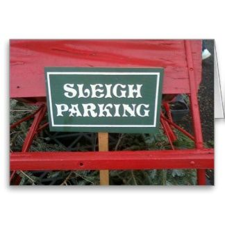 Santa's Sleigh Greeting Card