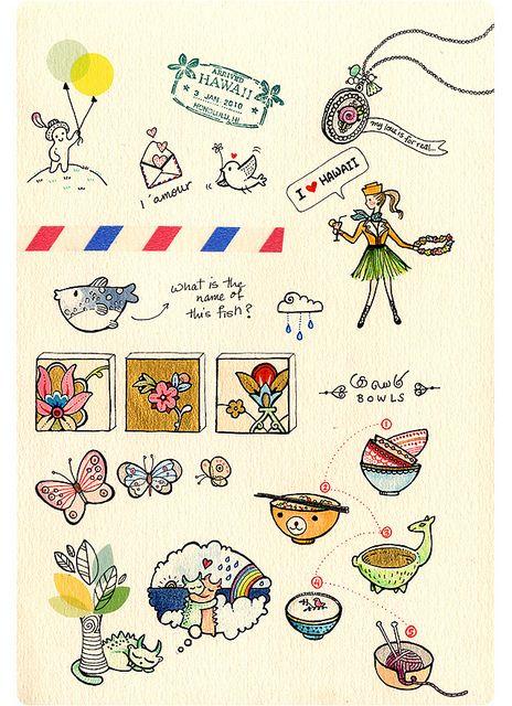Sketchbook by {JooJoo}, via Flickr © Afsaneh Tajvidi