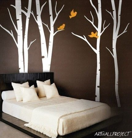 Tree decals for texture and pop of color
