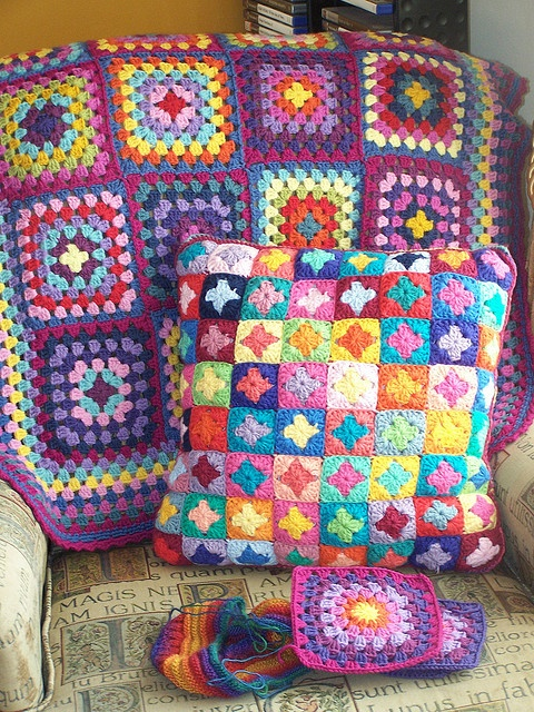 lots of granny squares