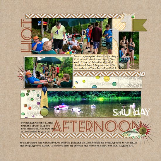 Scrapbooking with the Color Green - Layout by Debbie Hodge